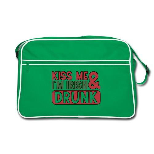 Kiss Me I'm Irish & Drunk - Party Irisch Bier - Retro Tasche
