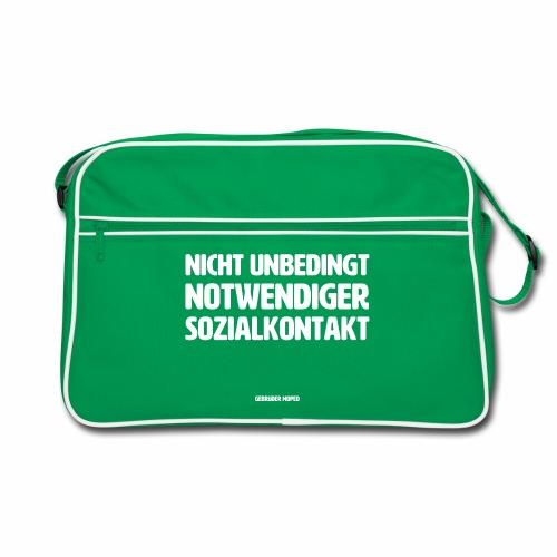 Nicht unbedingt notwendiger Sozialkontakt - Retro Tasche