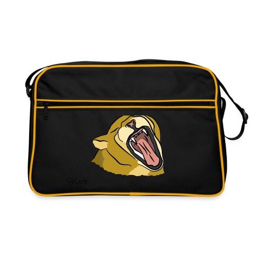 Gähnender / brüllender Löwe - Retro Tasche
