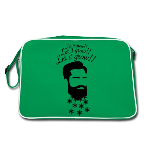 Let it grow! Beard - Retro Tasche