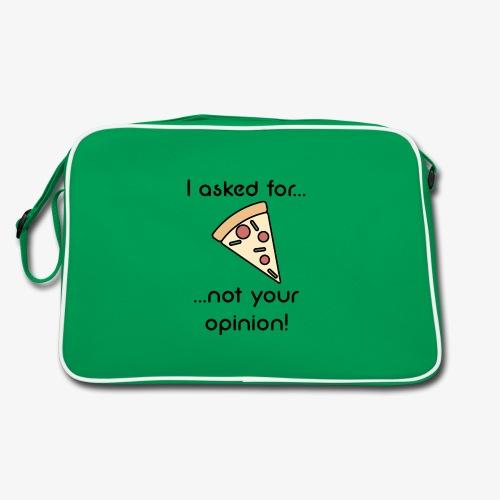 Pizza Opinion - Retro Tasche