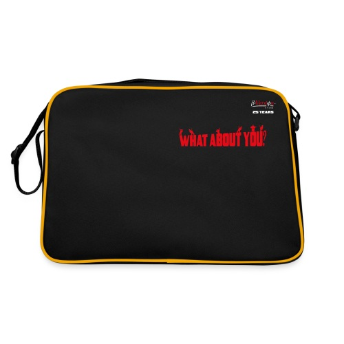 what about you red 25 years - Retro Tasche
