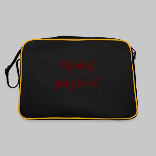 Definitely going to hell - Retro Bag