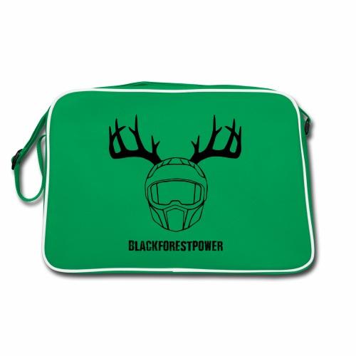 Blackforest Helm - schwarz - Retro Tasche