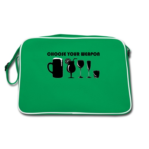 choose your weapon - Retro Tasche