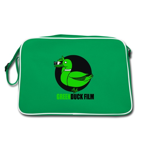 Greenduck Film Logo w. black letters - Retro taske