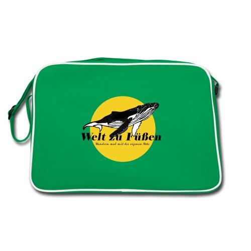 Welt zu Füßen Logo - Retro Tasche