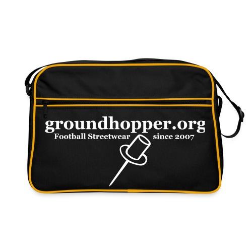 org logo einfarbig - Retro Tasche
