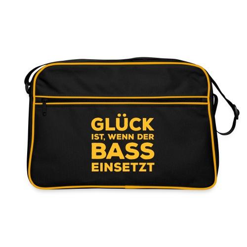 Glück ist, wenn der Bass einsetzt. Musik Rocker - Retro Bag