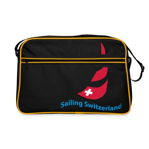 logo sailing switzerland - Retro Tasche