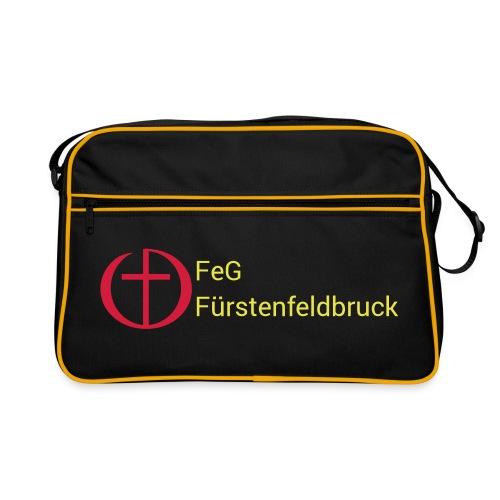 Logo FeG FFB mit Text - Retro Tasche