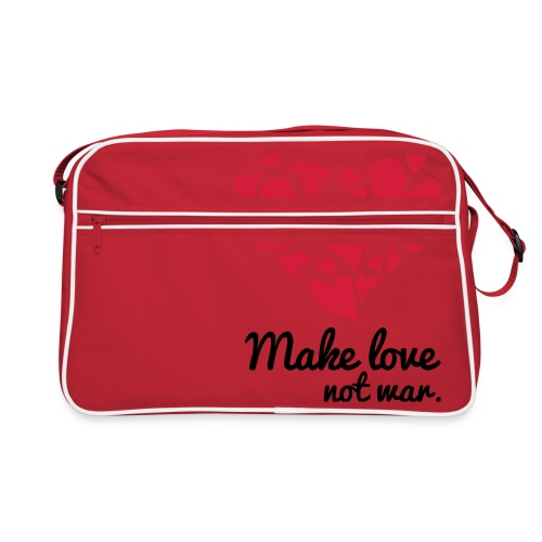 Make Love Not War T-Shirt - Retro Bag