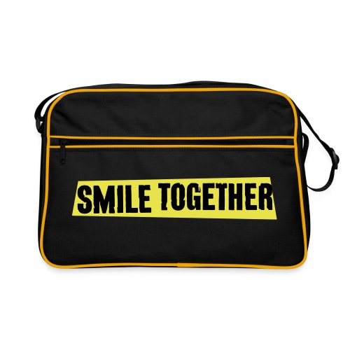 Smile Together Black Yellow - Retro Bag
