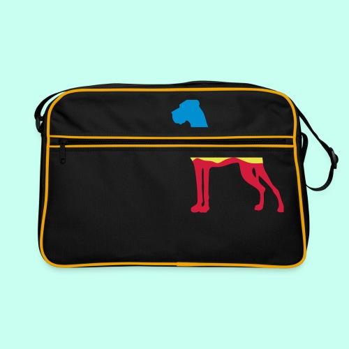 Flaggen Dogge - Retro Tasche