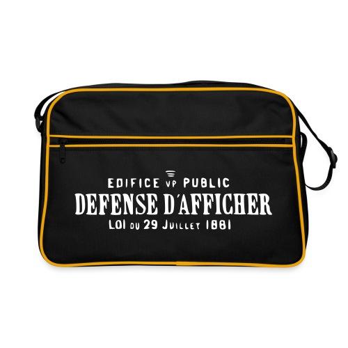 defensedafficher3 - Sac Retro