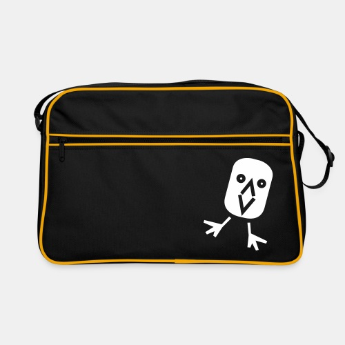 Vogel_Crazy_Schwarz_ohne_ - Retro Tasche