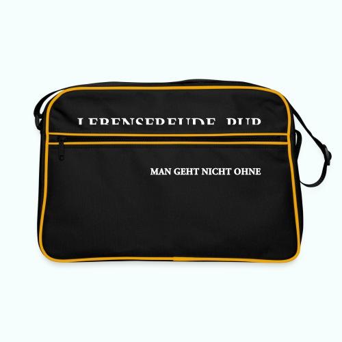 MAN GEHT NICHT OHNE - Retro Tasche