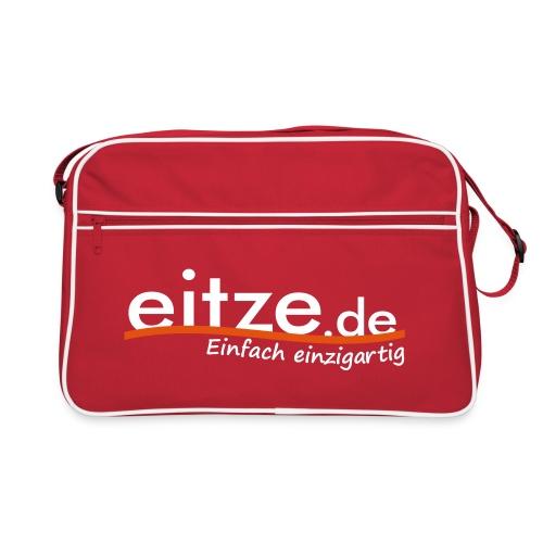 eitze.de Logo weiss - Retro Tasche