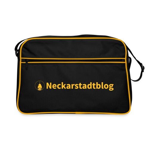 Neckarstadtblog Logo schmal - Retro Tasche