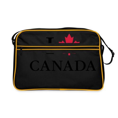 I love Canada Ahornblatt Kanada Vancouver Ottawa - Retro Tasche