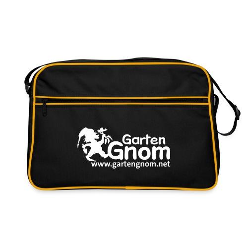 GartenGnom Logo mit Webadresse klein - Retro Tasche
