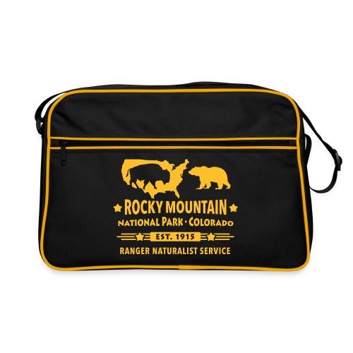 Rocky Mountain Nationalpark Berg Bison Grizzly Bär - Retro Bag