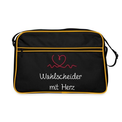 wahlscheider-mit-herz w - Retro Tasche