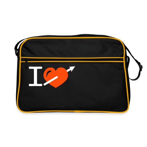 Cool i heart love arrow design - Retro-tas