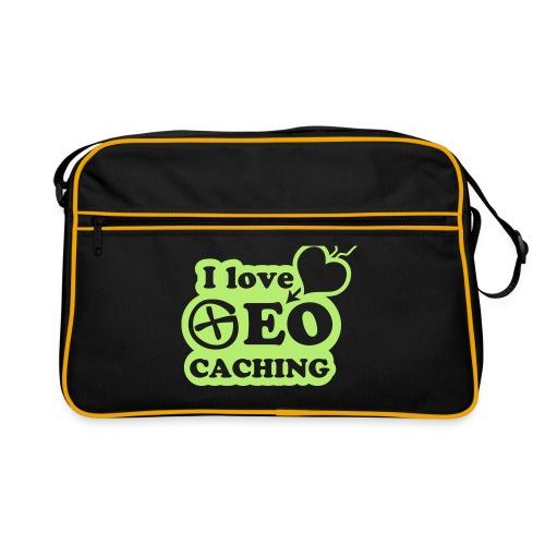I love Geocaching - 1color - 2011 - Retro Tasche