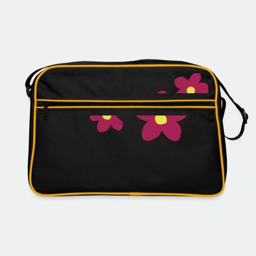 Three Flowers - Retro Bag