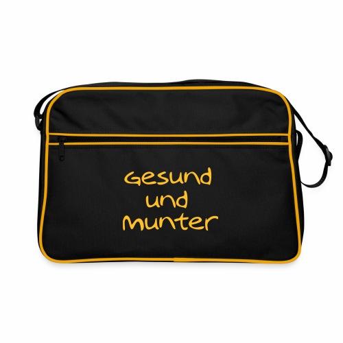 gesund und munter - Retro Tasche