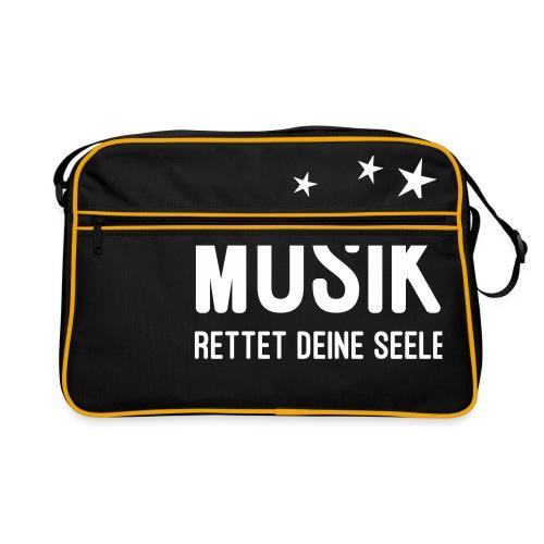 Musik rettet Deine Seele - Retro Tasche