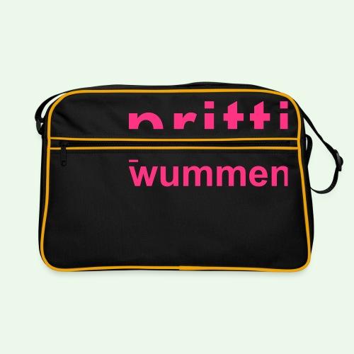 pritti wummen // pretty woman // girl power - Retro Tasche