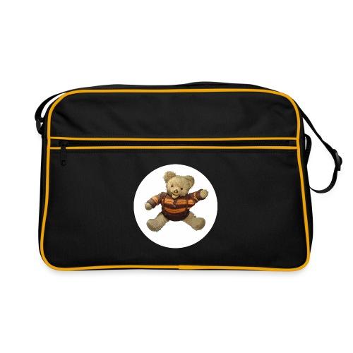 Teddybär - orange braun - Retro Vintage - Bär - Retro Tasche