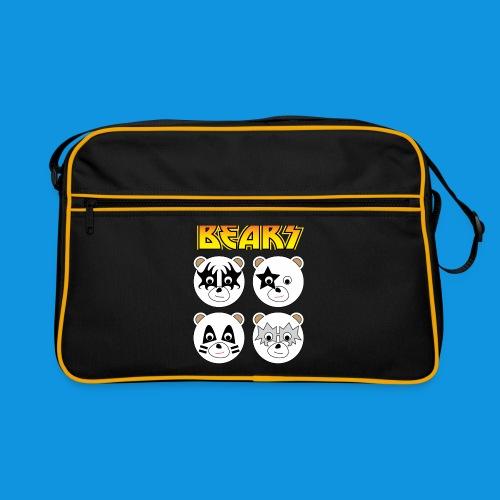 Kiss Bears square png - Retro Bag