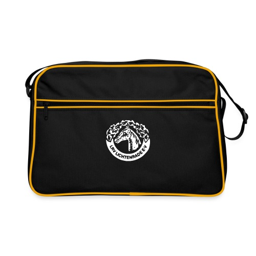 horse_logo_white_big - Retro Tasche