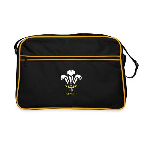 welsh 3 feathers design - Retro Bag