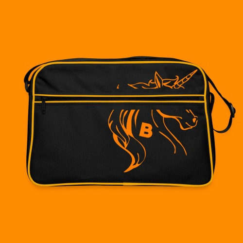 orange biodusty unicorn shirt - Retro-tas