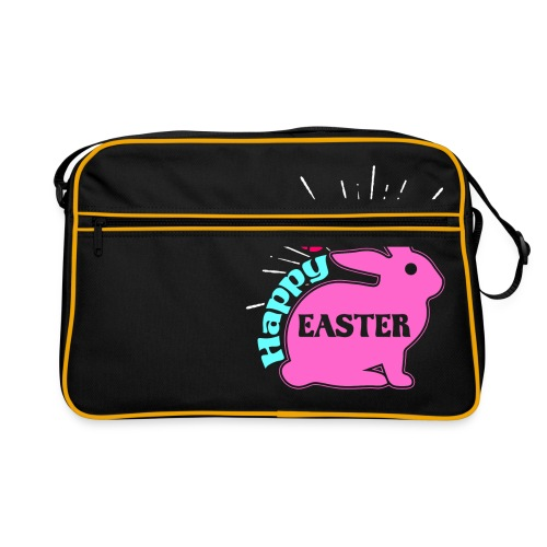 Happy Easter - Frohe Ostern - Retro Tasche