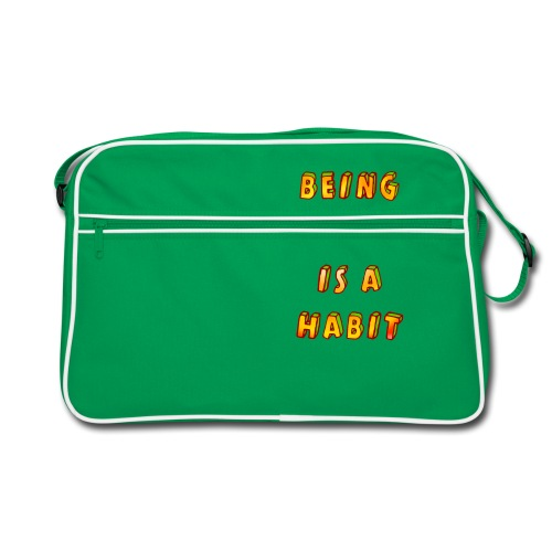 being happy is a habit - Retro Bag
