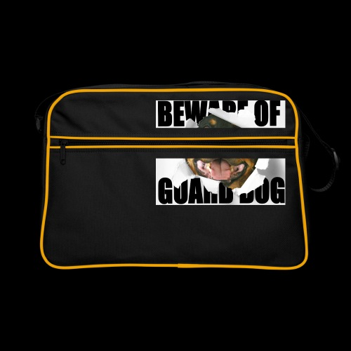 beware of guard dog - Retro Bag