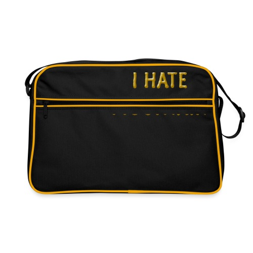 hate mountain - Retro Tasche