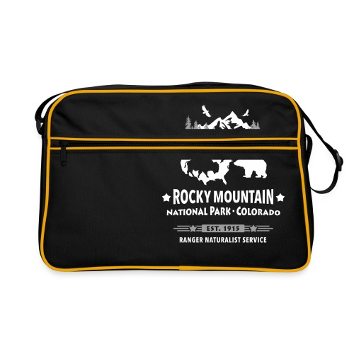 Rocky Mountain Nationalpark Berg Bison Grizzly Bär - Retro Bag