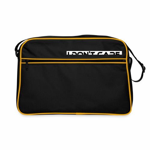 I DON T CARE Design, Ist mit egal, schlicht, cool - Retro Tasche
