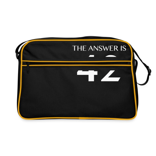The Answer is 42 White - Retro Bag
