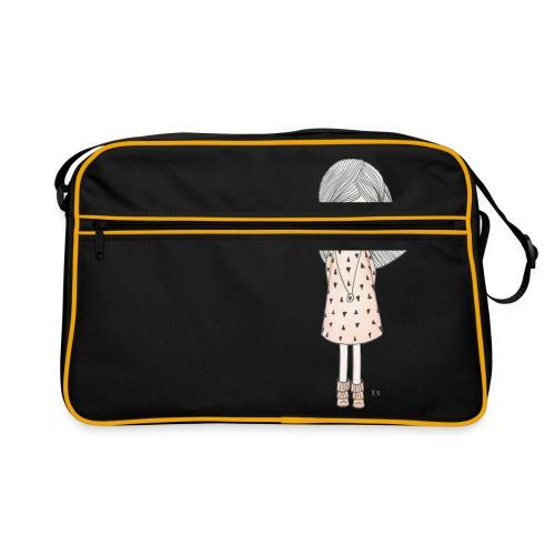 meisje met roze jurk - Retro-tas