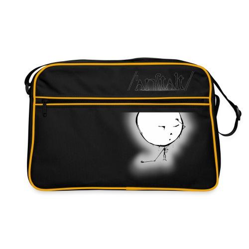 kreisling mit logo (schwarz) - Retro Tasche