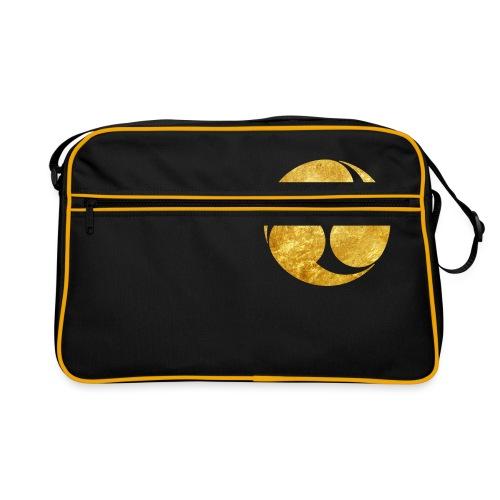 Kobayakawa Mon Japanese clan gold on black - Retro Bag