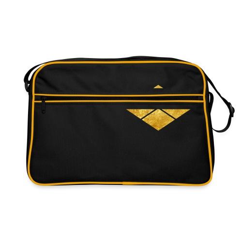 Takeda kamon Japanese samurai clan faux gold - Retro Bag