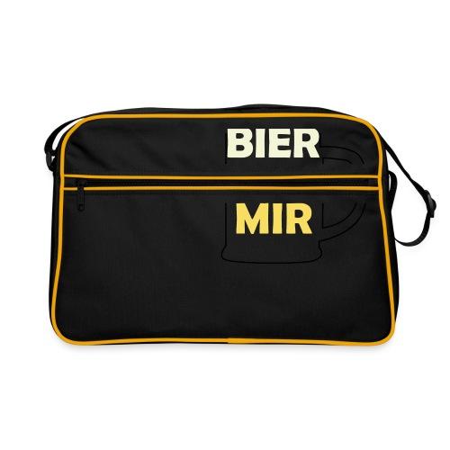 Bier zu mir - Retro Tasche